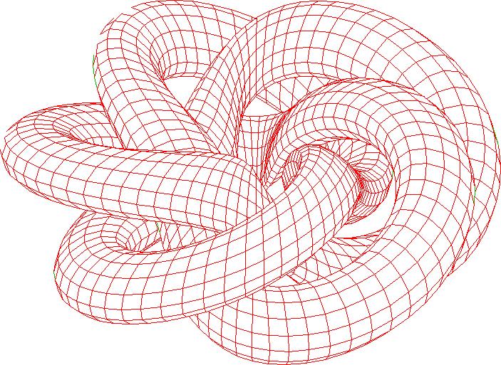 Drawing Torus Knots By Gnuplot